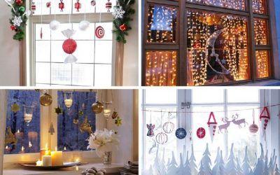 Decorar ventanas de navidad